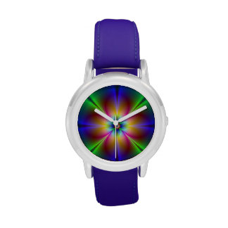 Colorful Neon Daisy Watches