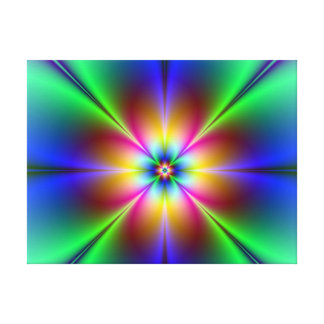 Colorful Neon Daisy Gallery Wrap Canvas