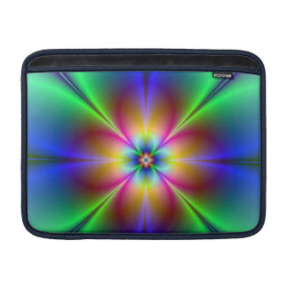 Colorful Neon Daisy MacBook Sleeve