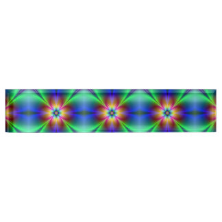 Colorful Neon Daisy Name Plate