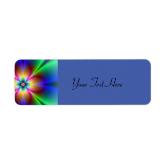 Colorful Neon Daisy Return Address Label