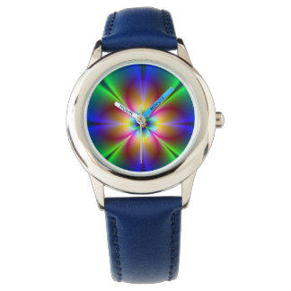 Colorful Neon Daisy Watch