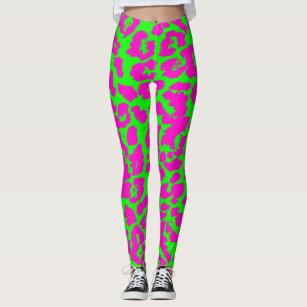 2b140618fc072 Women's Pink Leopard Print Gifts Leggings & Tights   Zazzle UK
