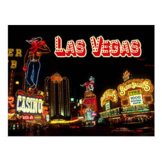 Colorful Neon Signs, Las Vegas, Nevada Postcard