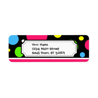 Colorful Neon Stripes Polka Dots Pink Teal Lime