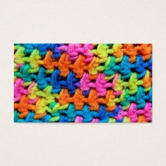 Colorful Neon Yarn Business Card