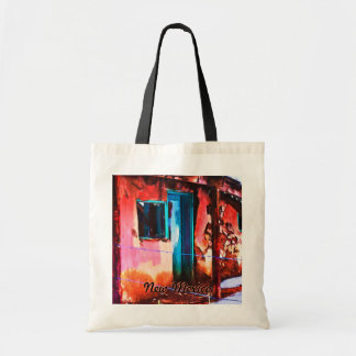 Colorful New Mexico Adobe Building Tote Bag