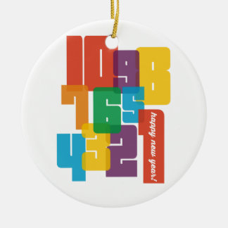 Colorful New Year Christmas Ornament
