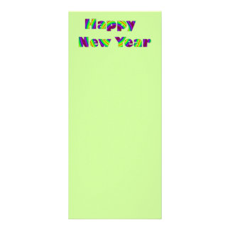 colorful new years full color rack card