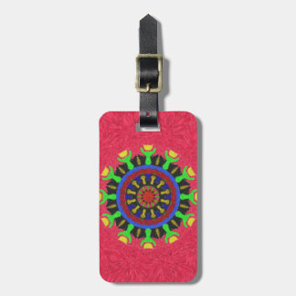 Colorful nice abstract pattern luggage tag