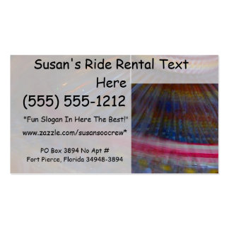 Colorful night fair ride action spinning shot business card templates