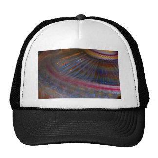 Colorful night fair ride action spinning shot mesh hat