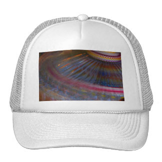 Colorful night fair ride action spinning shot trucker hat