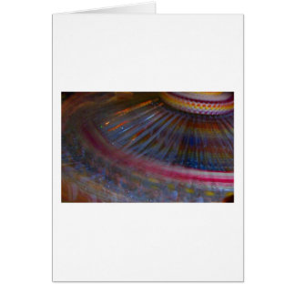 Colorful night fair ride action spinning shot stationery note card