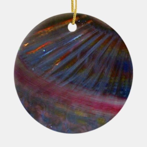 Colorful night fair ride action spinning shot christmas tree ornament