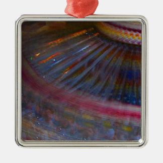 Colorful night fair ride action spinning shot christmas tree ornaments