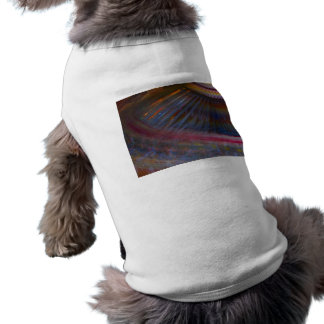 Colorful night fair ride action spinning shot doggie t shirt