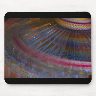 Colorful night fair ride action spinning shot mousepads