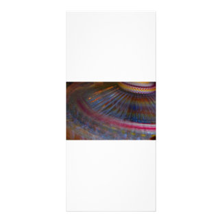 Colorful night fair ride action spinning shot custom rack cards
