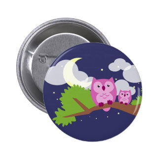 Colorful Night Owl 6 Cm Round Badge