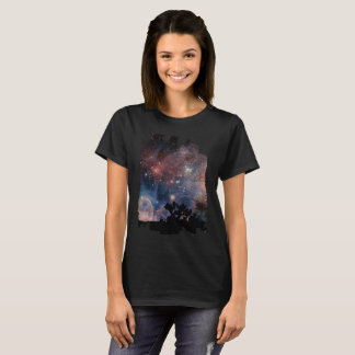 Colorful Night Sky while Camping & Reading T-Shirt