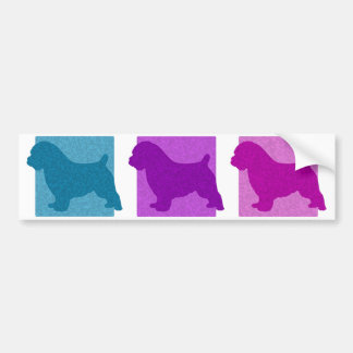 Colorful Norfolk Terrier Silhouettes Bumper Sticker