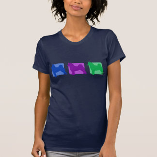Colorful Norwegian Elkhound Silhouettes T-shirt