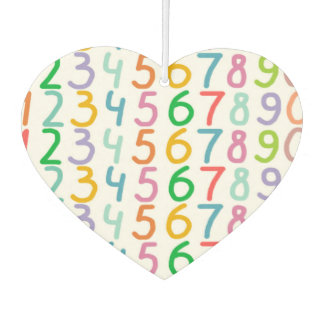 Colorful Numbers Pattern Car Air Freshener