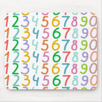 Colorful Numbers Pattern Mouse Pad