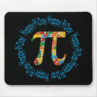 Colorful Numbers Pi Day Gifts and Tees Mouse Pad