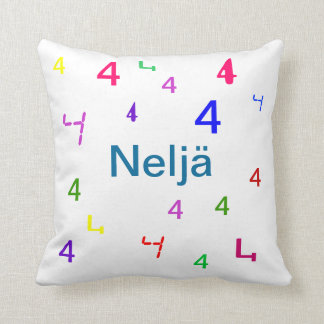 Colorful Numbers Pillows - CricketDiane Cushions