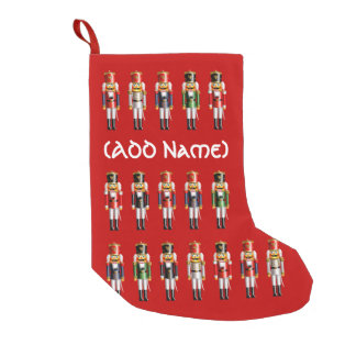Colorful Nutcracker Toy Soldiers Small Christmas Stocking