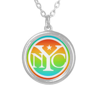 Colorful NYC Logo Personalized Necklace