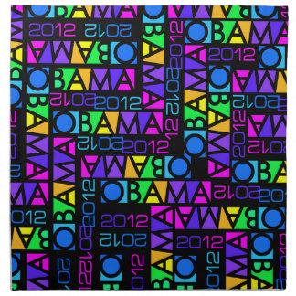 Colorful Obama 2012 cloth napkins