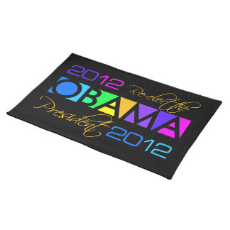 Colorful Obama 2012 placemat