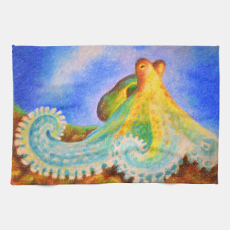 Colorful Octopus Art Tea Towel