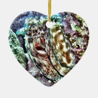 Colorful Octopus Ceramic Heart Decoration