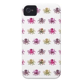 Colorful octopus pattern iPhone 4 cases