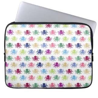Colorful octopus pattern laptop sleeve
