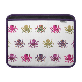 Colorful octopus pattern MacBook air sleeve