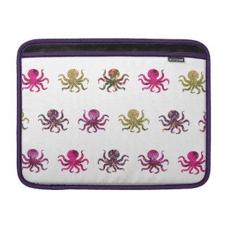 Colorful octopus pattern MacBook sleeve