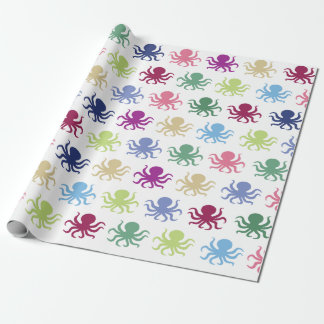 Colorful octopus wrapping paper