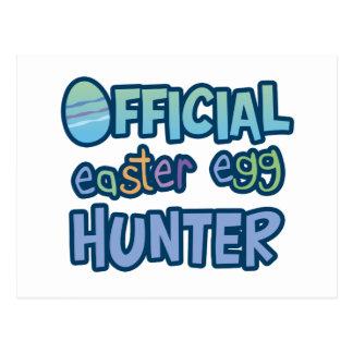 Colorful Official Easter Egg Hunter Postcard