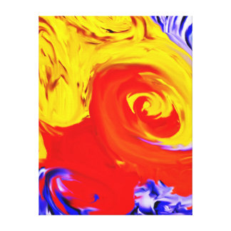 Colorful Oil Painting Wrapped Canvas Gallery Wrapped Canvas