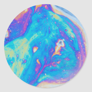 Colorful oil patterns, Canada Classic Round Sticker