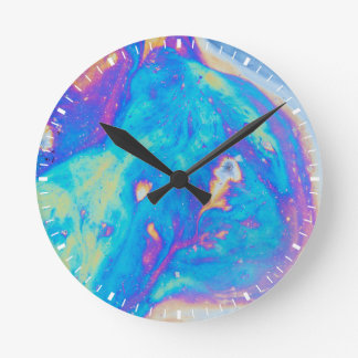 Colorful oil patterns, Canada Round Clock