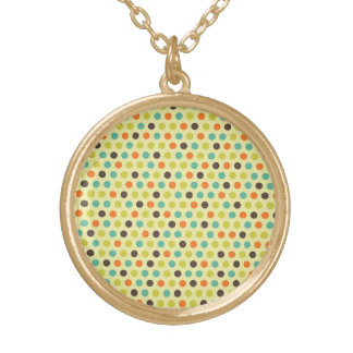Colorful Orange Blue Green Polka Dots Fall Pattern Jewelry