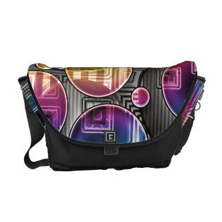 Colorful Orbs - Abstract Art Messenger Bag