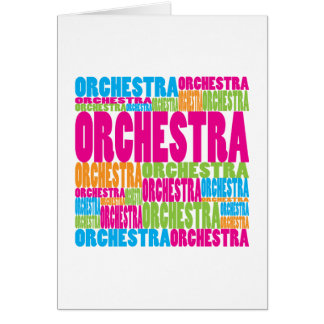 Colorful Orchestra Greeting Card