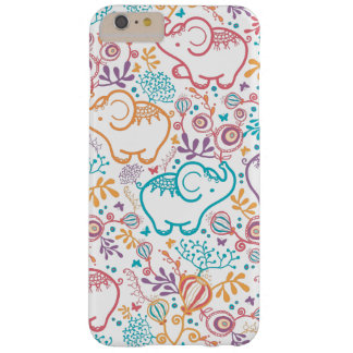 Colorful Oriental Elephants And Flowers Barely There iPhone 6 Plus Case